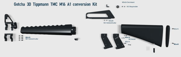 Tippmann TMC zu M16 A-1 conversion Kit