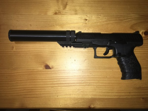 Silencer for Walther PPQ cal .43